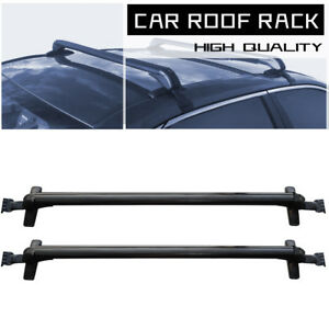 Universal Locking Cross Bar Car Suv Roof Rack Luggage Carrier Aluminum Black