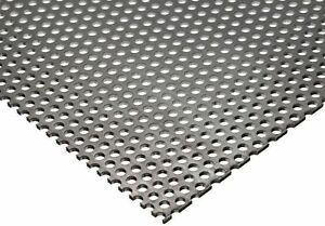 Online Metal Supply 304 Stainless Steel Perforated Sheet Thickness 0 035 20