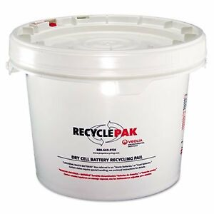 Veolia 041 Dry Cell Battery Recycling Pail 3 5 Gallons