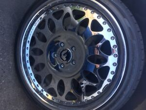 20 Forgiato Grano All Chrome Multipiece Wheels Rims 20x8 5 20x10 5x110 Chevy