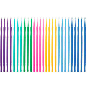50box Dental Micro Brush Disposable Applicator Dental Bendable Eyelashes Stick