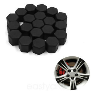 20pcs Car Wheel Screw Lug Nut Covers Silicone Tire Caps Air Dust Protector 19mm
