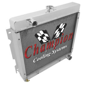 4 Row Perf Champion Radiator For 1971 1972 Plymouth Duster Small Block V8