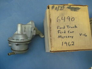 Factory New Fuel Pump 1962 Ford And Mercury With 6 Cylinder 223 Engine