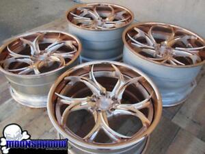20 21 Kompression Custom Rose Gold Wheels Rims 20x10 21x12 5 Corvette Z06