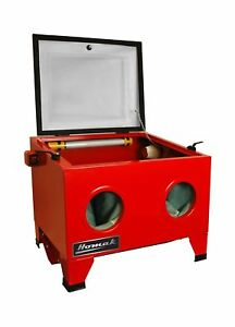 Homak 23 Inch Table Top Abrasive Blast Cabinet Red Rd00920250