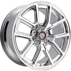 20x10 5 Chrome Centerline Mm4 633c Wheels 5x4 5 45 Fits Ford Mustang