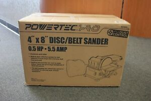 Powertec Pro Bd4800 Woodworking 4 x8 5hp 5 5amp Disc belt Sander New In Box