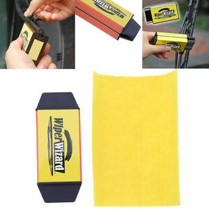 Car Windshield Wiper Blades Clean Restoring Repair Auto Sharpen Cleaning Brushes