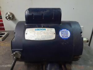 Leeson Motor 1 Hp Single Phase 3450 Rpm Tefc 149c34db6 Frame 56