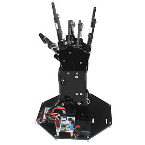 1500mah Bionic Robot Hand Palm Mechanical Arm 5 Fingers Control System For Teach