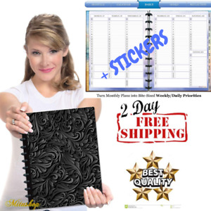 2019 Planner Daily Weekly Monthly Calendar Appointment Organizer Black Hardcover
