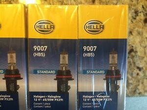 Hella 9007 Standard Wattage Bulb Pair Of Two Free Shipping