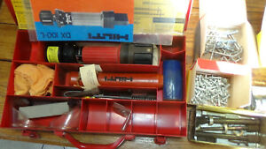 Hilti Dx100l Single Shot Powder Actuated Drive Tool Complete Kit With Extras