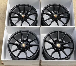 20 Porsche 991 Carrera S 20 Factory Oem Wheels Rims 911 997 4s Turbo Black