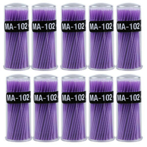 10boxes Dental Micro Brush Disposable Applicator Dental Bendable Stick Small