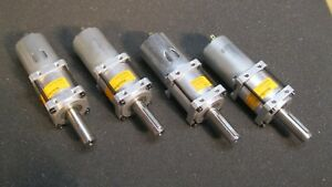 Set Of 4 Banebots P60 Gearbox With Rs 550 Motors And 1 8 Inch Sstl Key 26 1