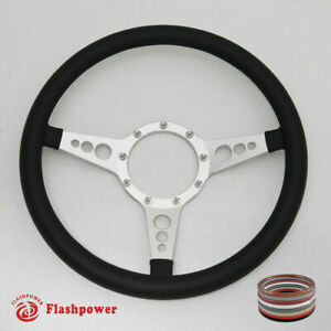 14 Satin Billet Steering Wheels Full Wrap Ford Gm Corvair Impala Chevy Ii