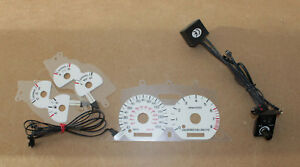1996 1998 Ford Mustang Gt 150 Mph Us White Face Indiglo Blue Green Glow Gauges
