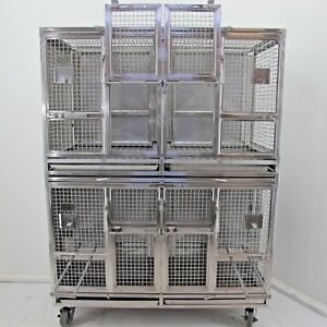 Primate Ape Monkey Cage Stainless Steel 4 Cage