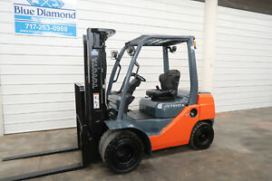 2011 Toyota Forklift 8fdu25 5 000 Pneumatic Diesel Three Stage Sideshift