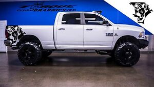Ram Head bed Graphics vinyl Decal Sets For Dodge Ram Vehicles Custom Graphics