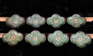 8 Antique Chinese Small Cloisonne Dish Plate
