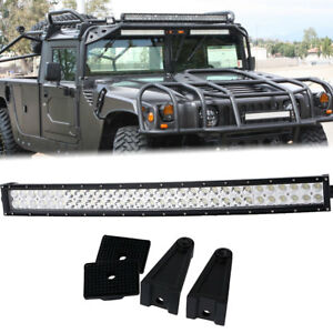 30 Curved Led Light Bar Combo Beam Fog Driving Bumper Roof For Hummer Ford