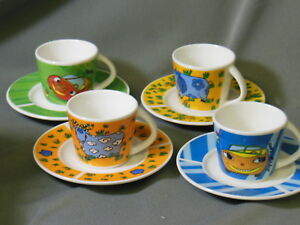 Unique Fun Espresso Demitasse Cup Saucer From Spain Lot Of 4 Collection