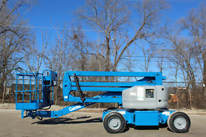 2007 Genie Z45 25 Dc Electric Articulating Boom Liftaerial Lift 500lb Capacity