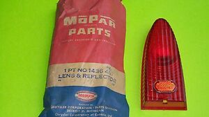 1953 Nos Plymouth Tail Light Lens Original Mopar Chrysler Made Part 1436444