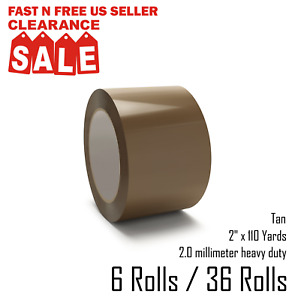 Sealing Packing Packaging Tape tan 2 X 110 Yards 330 Ft
