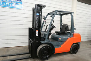2015 Toyota 8fgu32 6 500 Pneumatic Tire Forklift Lp Gas 3 Stage S s