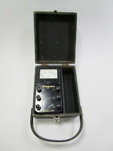 untested Vintage Simpson Model 370 Amp Meter With Box