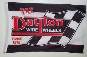 Dayton Wire Wheels Classic Logo Caps High Quality Banner 3x5 Ft Flag Since 1916