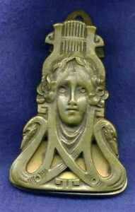 Beautifully Designed Circa 1855 Art Nouveau Wall Mount Letter Clip Holder