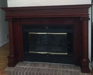 Vintage Federal Style Mahogany Fireplace Mantle Beautiful Rich Color