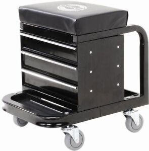 Creeper For Mechanic Seat Stool With Drawer On Wheel Workshop Automotive Repair
