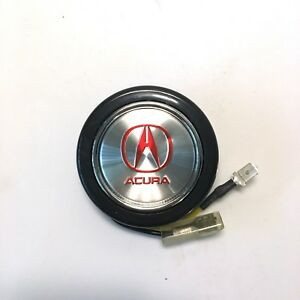 Horn Button For Momo Steering Wheel Compatible With Acura Silver W Red Logo