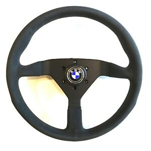 Momo Monte Carlo Black Alcantara Steering Wheel Plus Hub Bmw E3 E9 320 2002 533
