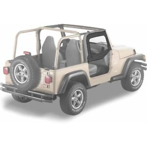 Bestop 51790 35 Soft Upper Half Doors Black Diamond 1997 2006 Jeep Tj Wrangler