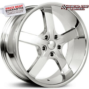 Elure 021 5 Chrome 22 x9 5 Custom Wheels Rims set Of 4