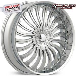 Elure 033 Chrome 26 x9 5 Custom Wheels Rims set Of 4