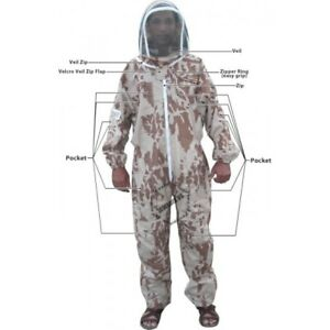 Adult Medium Lightweight Camouflage Bee Suit Cheapest Honey Sting Beekeeper Suit