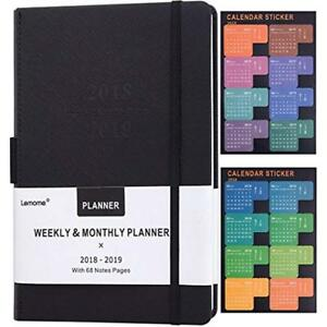Planner 2018 2019 Pen Holder academic Weekly Monthly Yearly Planner Thick To