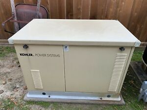 Kohler 17kw Standby Generator Ng Lp Only 125 Hrs Incl Transfer Switch