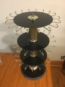 Vtg Store Counter Rotating Revolving Spinning 3 tier Jewelry Display Rack
