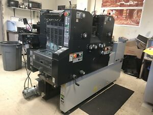 Abdick 9995a Ryobi 3302ha Two Color Press