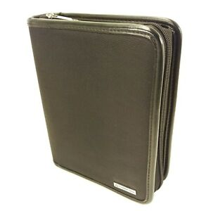 Franklin Covey Black Compact Zipper Planner Binder Organizer