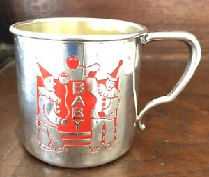 Vintage Baby Or Childs Silver Plated Cup Oneida Community Tudor Plate